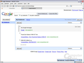 Google Notebook: Website