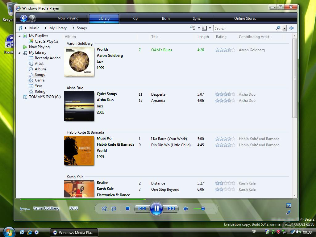 Media Player 11 für Windows Vista