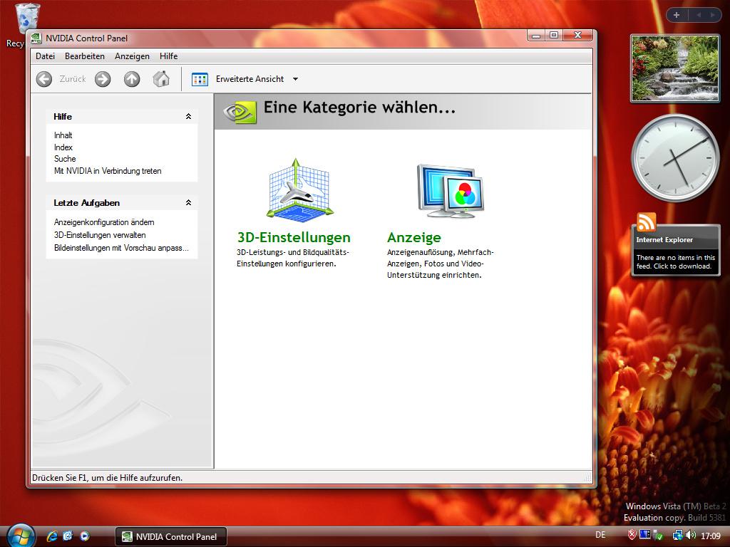 nVidia Windows Vista Beta 2 Treiber 88.61
