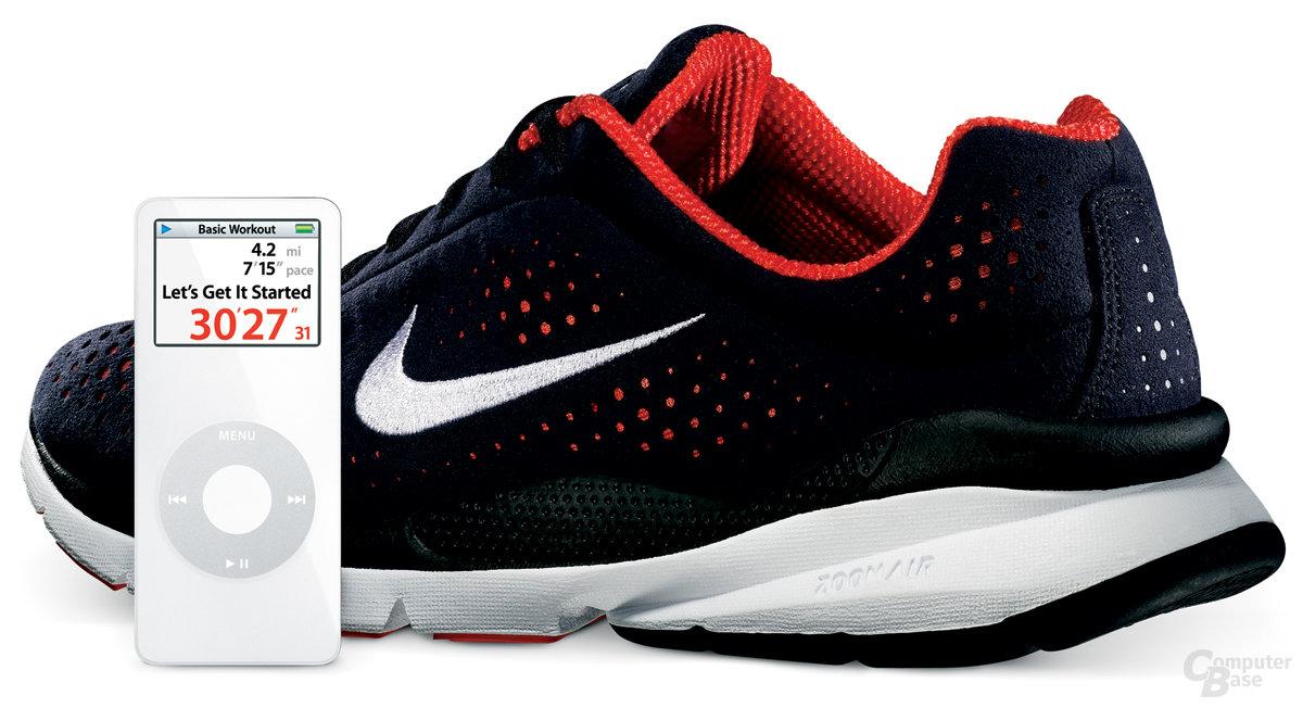 Nike+ Air Zoom Moire und iPod nano