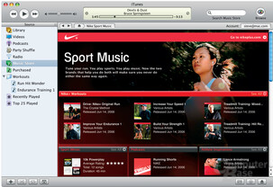 """Nike Sport Music"" im iTunes Music Store"