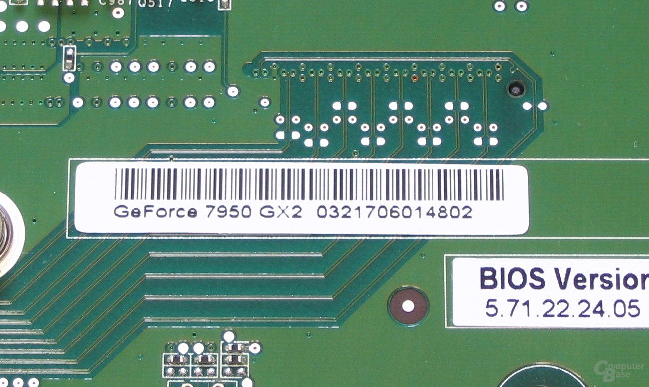 GeForce 7950 GX2 Aufkleber