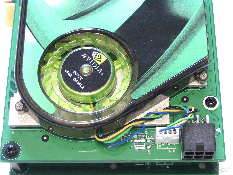 GeForce 7950 GX2 PCIe-Anschluss