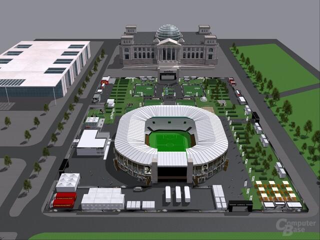 """""""World of Football"""" vor dem Berliner Reichstag"""