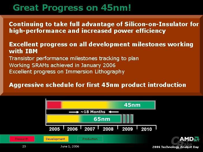 AMD Analyst Day 2006: Produktionspläne