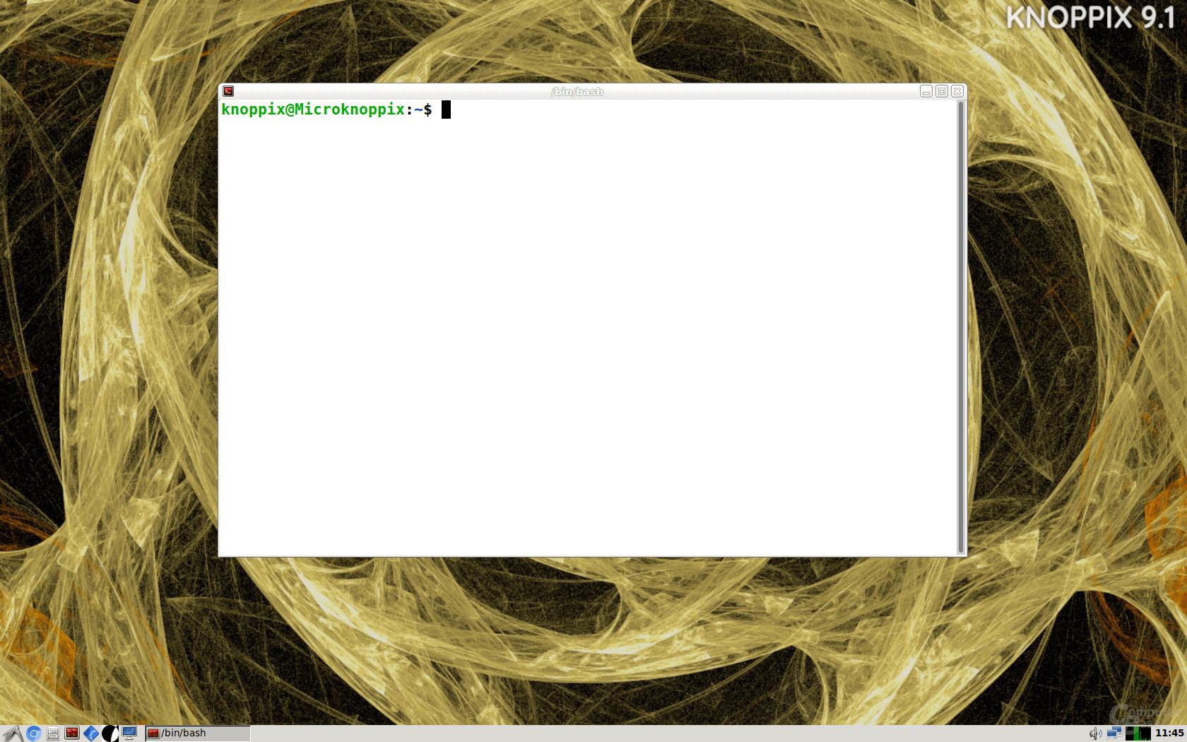 KNOPPIX 9.1 – Terminal
