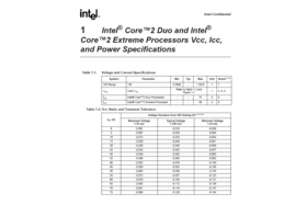 Therma Power Specification des Core 2 Duo und Core 2 Extreme