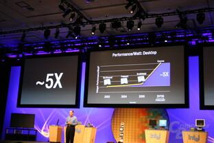 Intel Developer Forum Fall 2005: Drastische Steigerung der Performance pro Watt