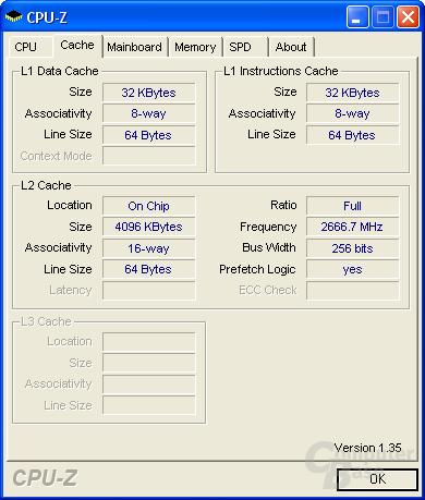 Core 2 Extreme - 4 MB L2-Cache, der von beiden Kernen gemeinsam genutzt werden kann