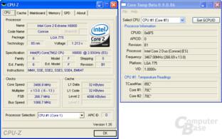 Core 2 Extreme auf 3,46 GHz bei 1,4 Volt
