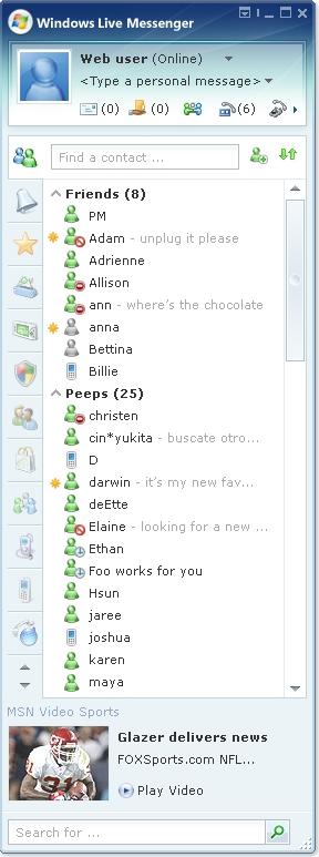 Windows Live Messenger 8 - Quelle: LiveSide.net