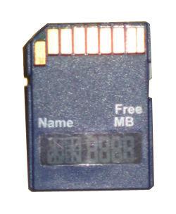 A-Data SD-Karte mit Display (Quelle: www.heise.de)