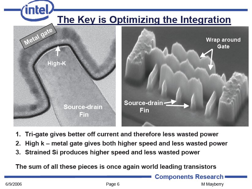 Intel: Tri-Gate-Transistor für mehr Leistung und weniger Verbrauch