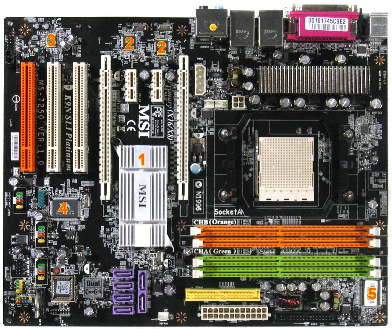 MSI K9N SLI Platinum Komponenten