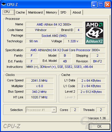 Foxconn C51XEM2AA CPU-Z CPU max