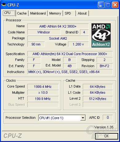 Foxconn C51XEM2AA CPU-Z CPU