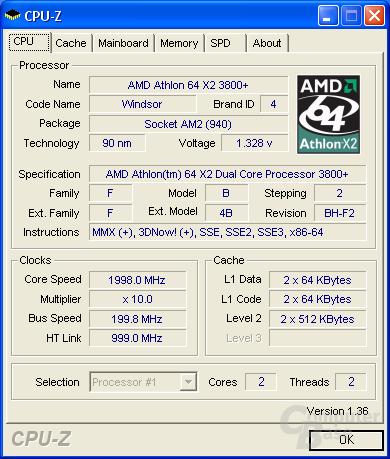MSI K9N SLI Platinum CPU-Z CPU