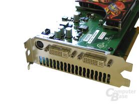 Gigabyte GeForce 7950 GX2 Slotblech