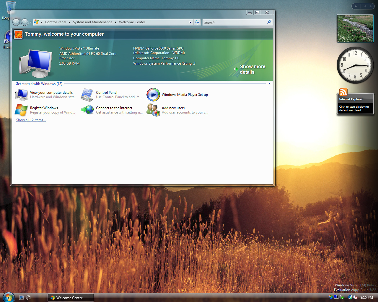 Windows Vista Build 5456 (Post-Beta 2)