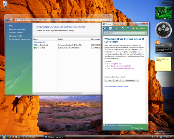 Windows Vista Build 5456 (Post-Beta 2) - PC-to-PC-Synchronistation ist tot!