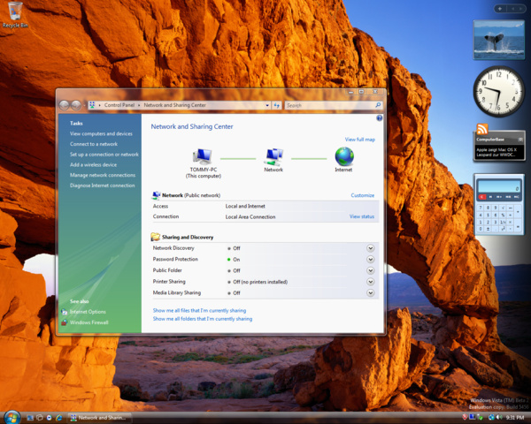 Windows Vista Build 5456 (Post-Beta 2) - Verbessertes Network Center