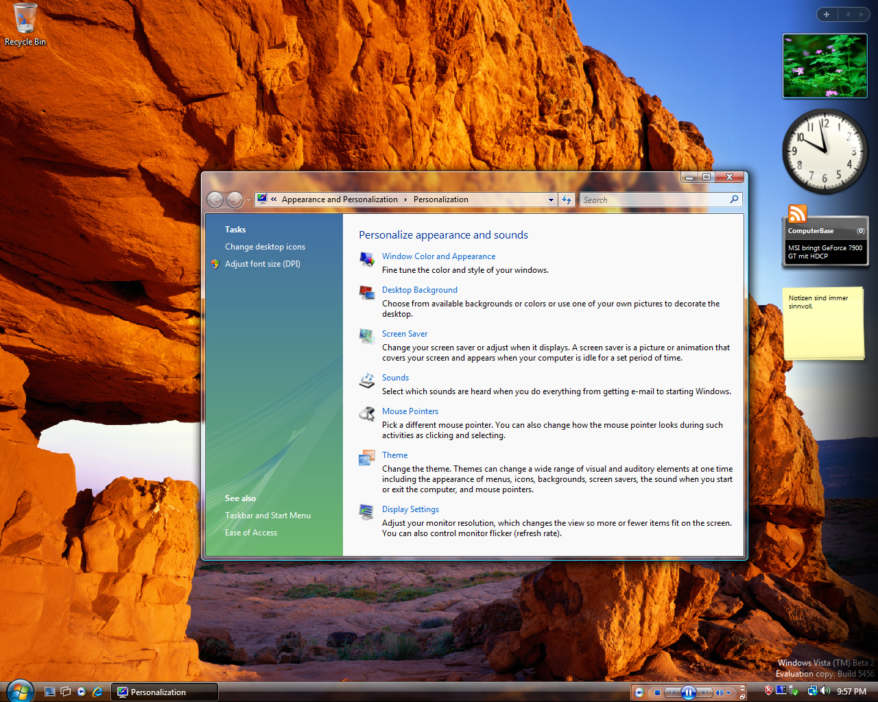 Windows Vista Build 5456 (Post-Beta 2) - Neue Icons an vielen Stellen