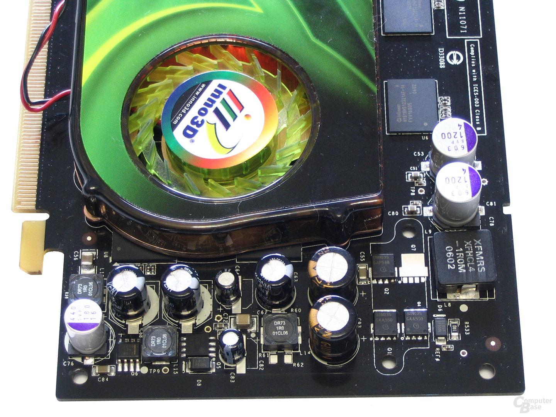 Inno3D GeForce 7600 GST Spannungswandler
