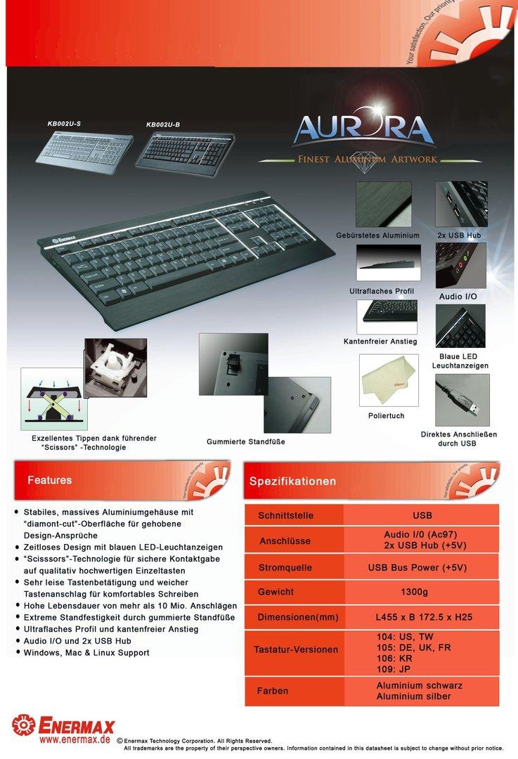 Aurora Dateblatt