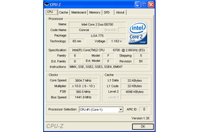 Overclocking-Ergebnis Asus P5W DH Deluxe