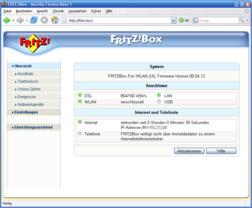 AVM Fritzbox Fon WLAN  - Neue Firmware 8.04.12
