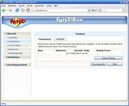 AVM Fritzbox Fon WLAN  - Neue Firmware 8.04.12 mit Adressbuch