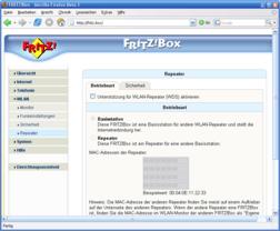 AVM Fritzbox Fon WLAN  - Neue Firmware 8.04.12 mit Repeater-Funktin