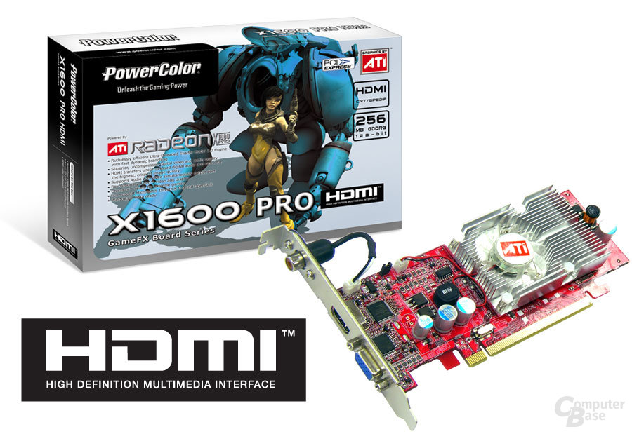 Powercolor Radeon X1600 Pro HDMI