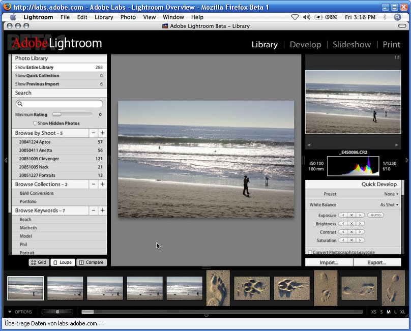 Adobe Lightroom Beta unter Mac