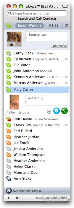 Skype für Mac 1.5 Beta