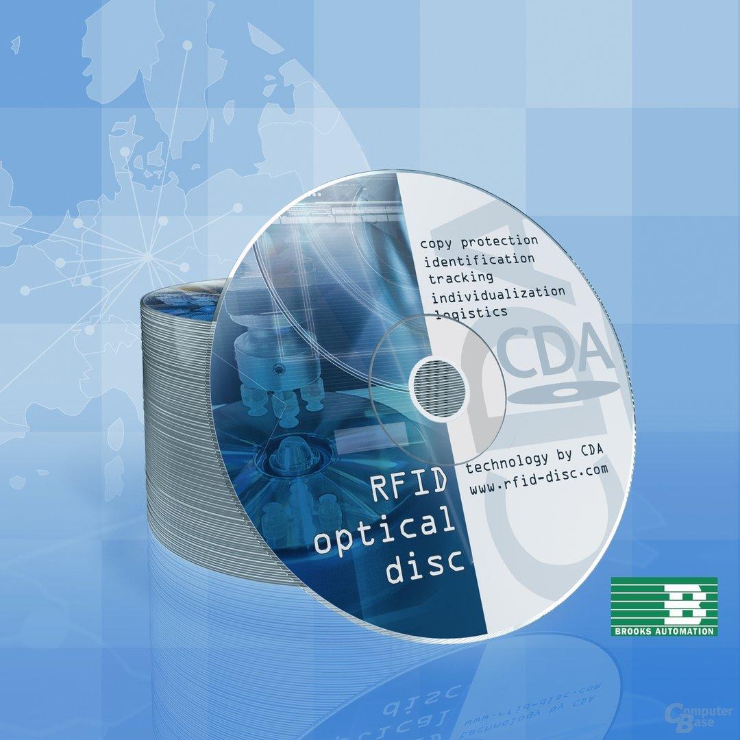 Neuentwicklung: CD/DVD mit integriertem Transponder