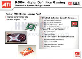 Spezifikationen Radeon X1950 XTX/R580+