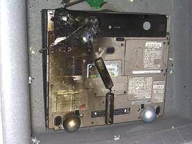 Abgebrannter Dell-Laptop #3