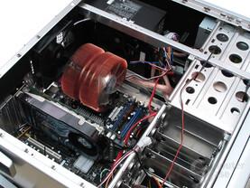 Blick ins Testsystem für VGA-Kühler