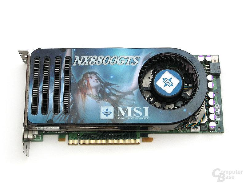 Testgrafikkarte: MSI GeForce 8800 GTS 320 OC (G80)