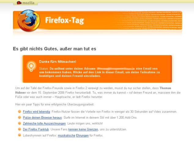 Werde ein Teil von Firefox 2.0
