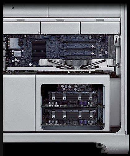 Erweiterungsschächte des Mac Pro