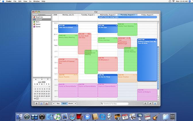 Apple Mac OS X 10.5 Leopard - iCal 3