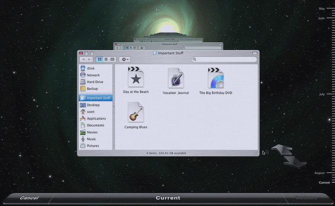 Apple Mac OS X 10.5 Leopard - Time Machine