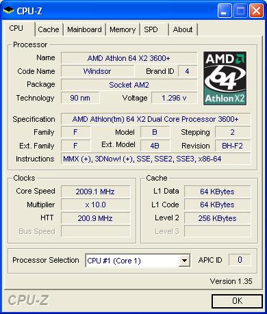 AMD Athlon X2 3600+ | Quelle: xBit Labds