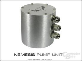Nemesis: Pumpe und Ausgleichsbehälter