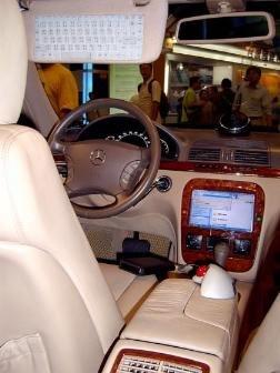 Shuttle Auto-XPC in einer Mercedes S-Klasse