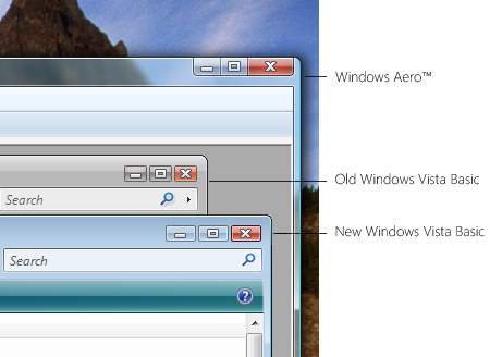 Windows Vista Aero und Basic-Theme