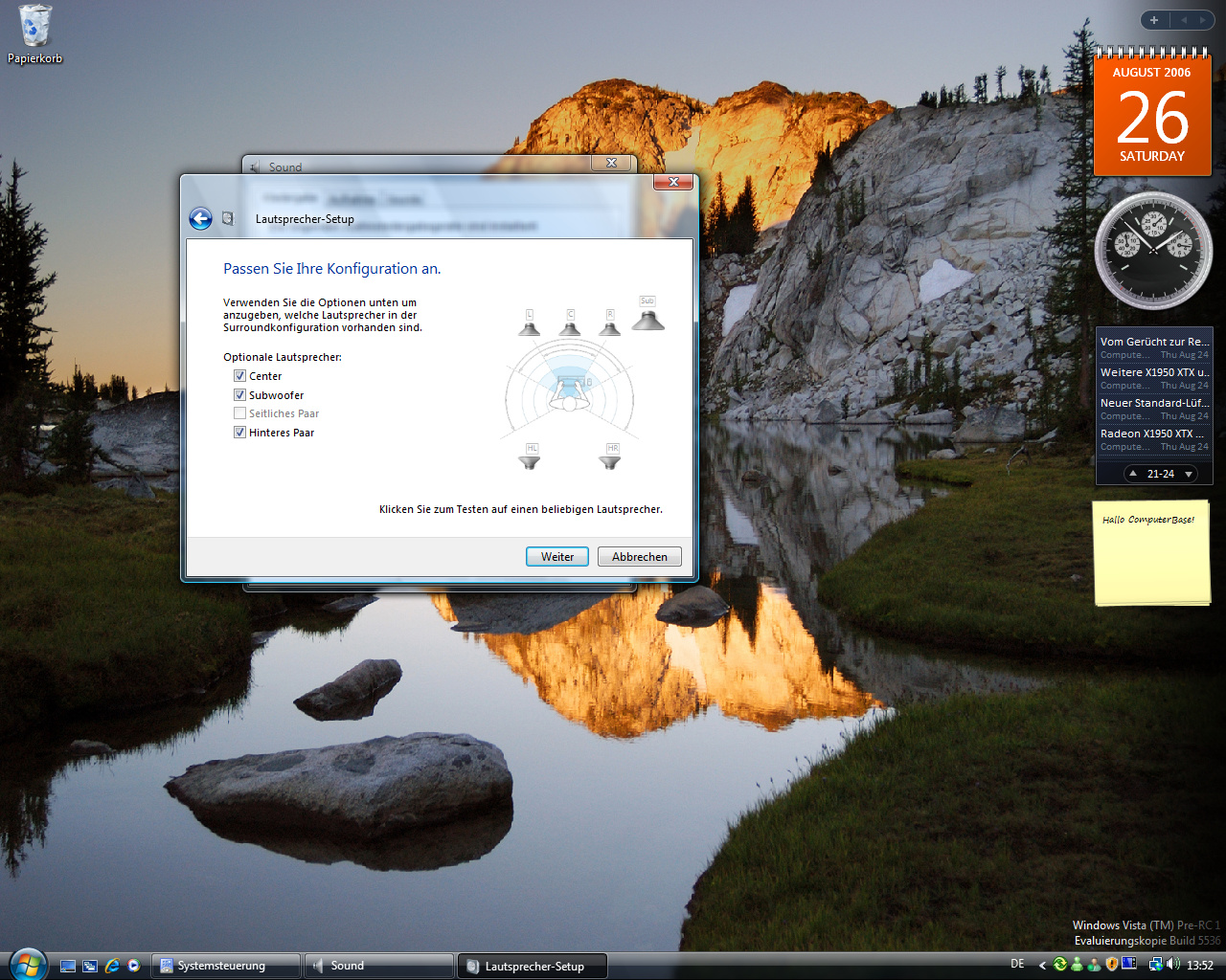 Windows Vista Build 5536 - Soundoptionen 3