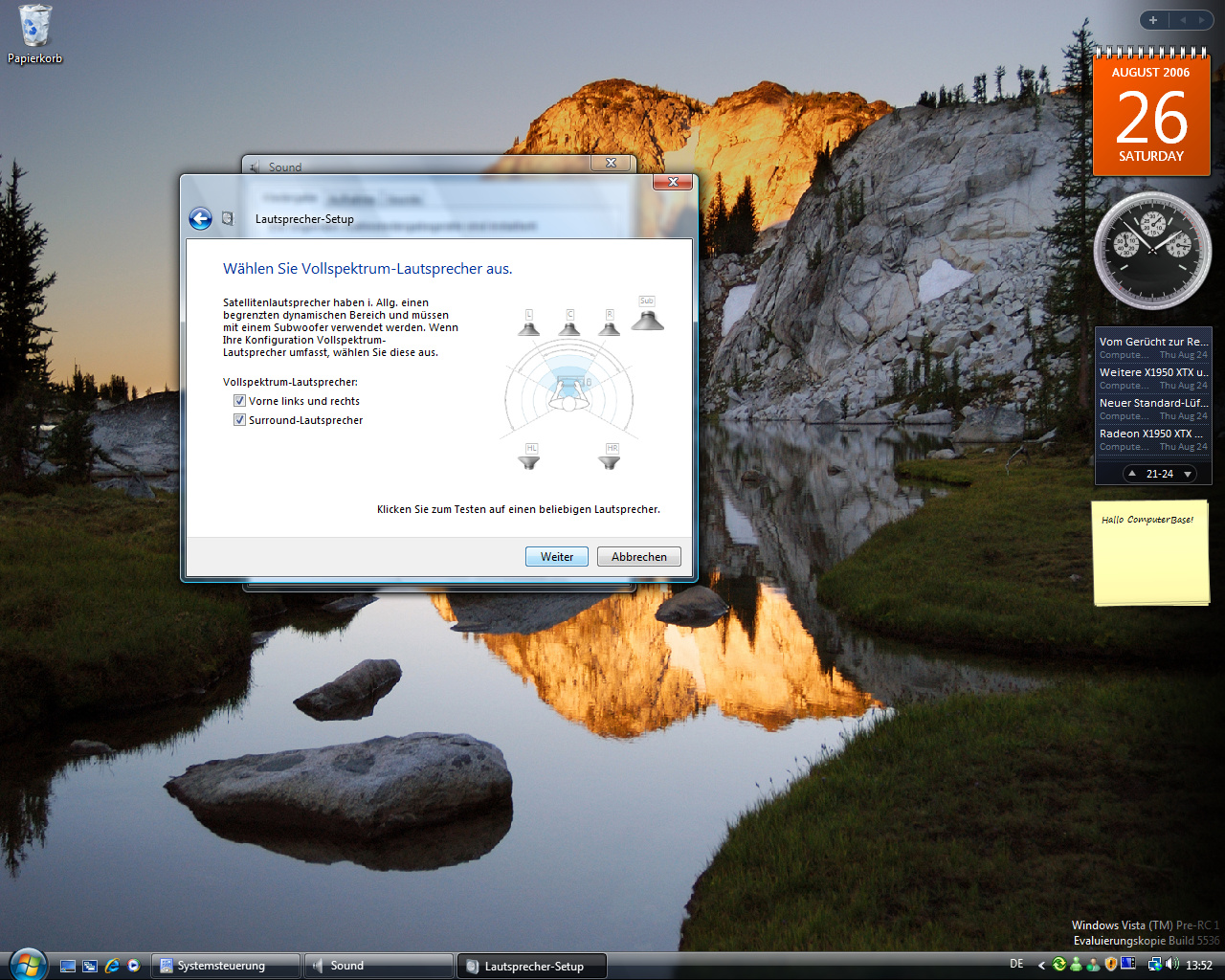 Windows Vista Build 5536 - Soundoptionen 4